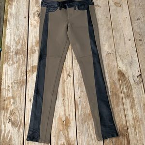 Sold Leather 25 Army Green Jeans